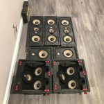 First 300 series Focal speakers being installed