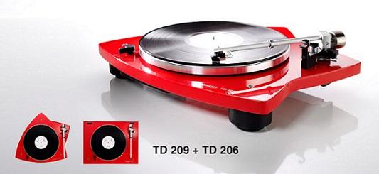 Thornes 209 turntable in red